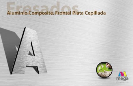 Aluminio Composite, Frontal Plata Cepillada