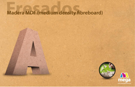 Madera MDF (medium density fibreboard)