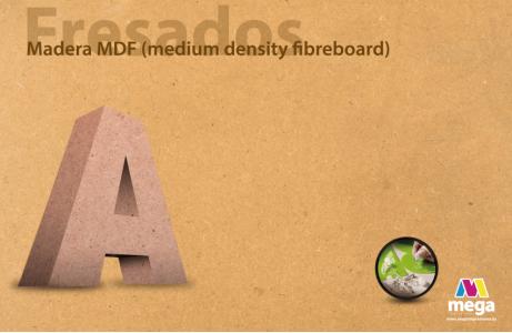 Madera MDF (medium density fibreboard)
