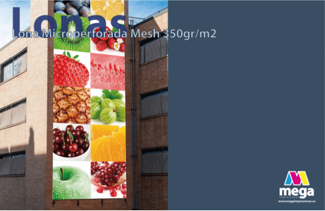 Lona Microperforada Mesh 350gr/m2