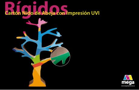 Cartón Nido de Abeja con Impresión UVI